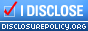 Disclosure Policy Badge